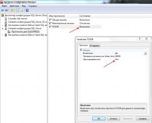 Свойства TCPIP MS SQL 12