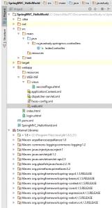Структура проекта Spring MVC Hello World