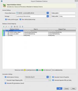 Import Database Schema