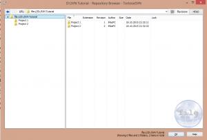 create folders in repo